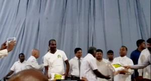 roshan perera-mahinda amaraweera-Angajan Ramamanthan-traditional sri lankan rice-srilankanrice-akshtata rice