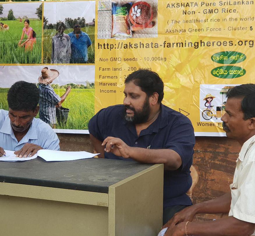 roshan perera-rice sri lanka-farmers sri lanka